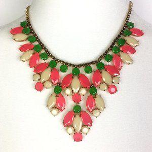 Kate Spade Marquee Bib Statement Necklace Pink